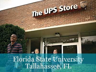 Students exiting store at Florida State University