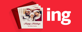 Customized family holiday greeting card